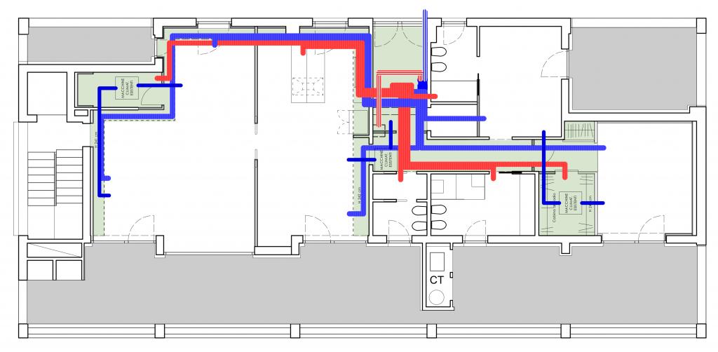Sistema impiantistico integrato con VMC