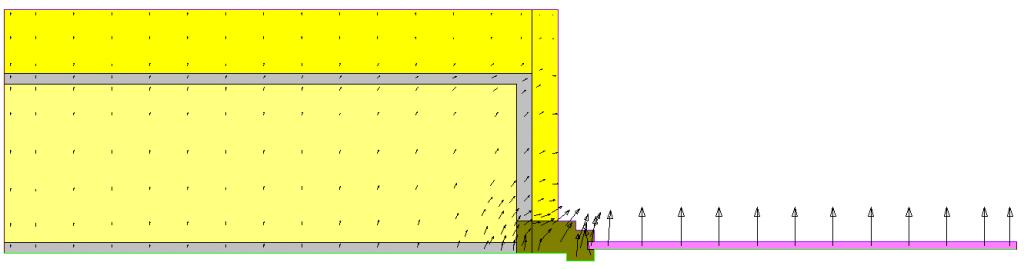 Rappresentazione vettori di flusso ponte termico parete serramento cappotto