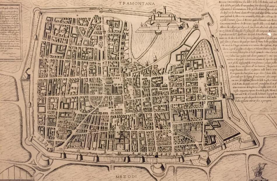 Mappa storica Brescia