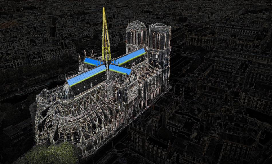 Notre-Dame il vetro come metafora della verità.